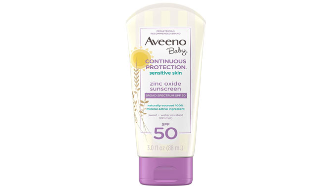 Aveeno Baby Continuous Protection Zinc Oxide Mineral Sunscreen Lotion