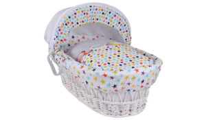 Clair de Lune The Dudes White Wicker Moses Basket