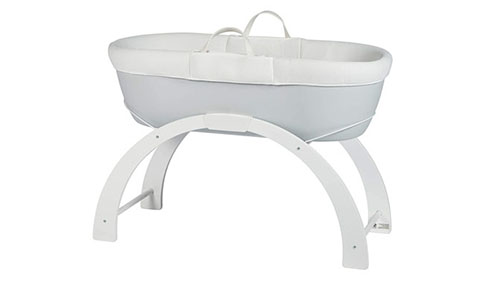 Shnuggle Dreami Moses Basket and Curve Rocking Stand 484x283