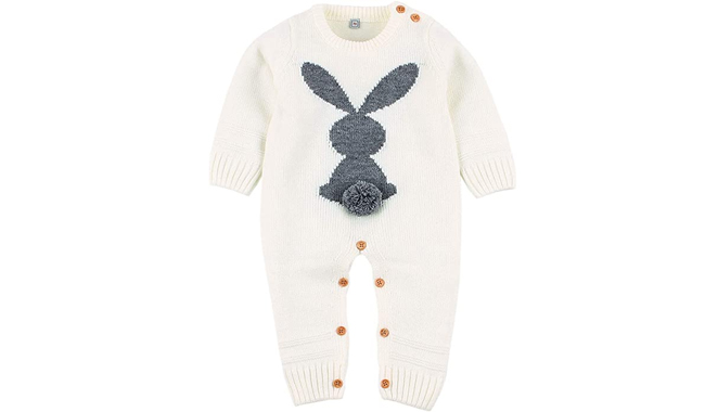 Puseky Rabbit Bunny Knitted Jumpsuit