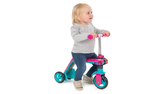 Smoby Pink Reversible 2-in-1 Scooter