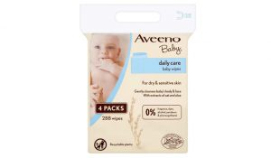 Aveeno Baby Wipes, 288-Count, 4 Pack