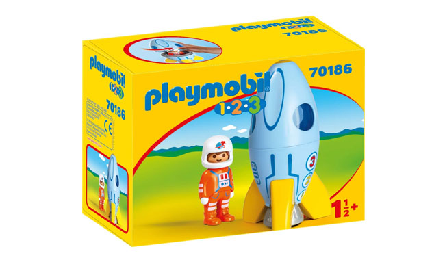 Playmobil 1.2.3 Space Rocket with Astronaut
