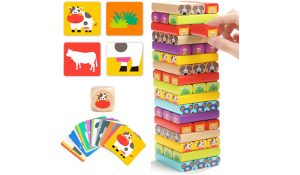 Top Bright Wooden Tumble Tower Game