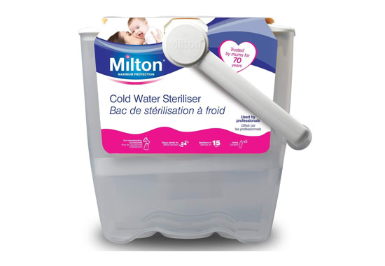 Milton Cold Water White Steriliser 550x380