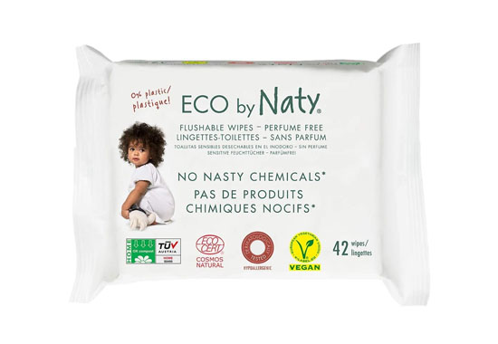 Eco by Naty Flushable Baby Wipes 550x380