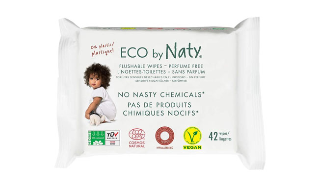 Eco by Naty Flushable Baby Wipes