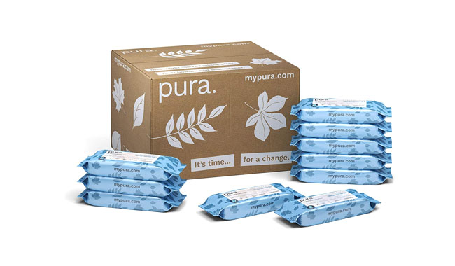 Pura Flushable Baby Wipes