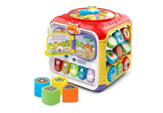 VTech Sort & Discover Baby Activity Cube 550x380