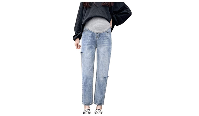 Maternity Ripped Jeans for Women