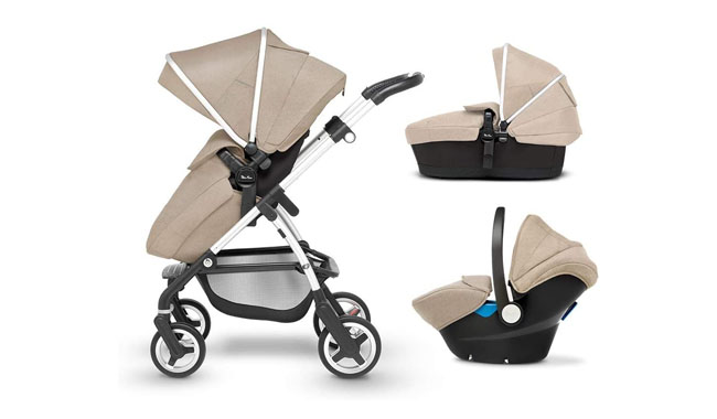 Silver Cross Wayfarer 3-in-1 Foldable Travel System