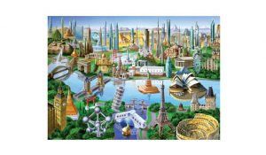 MasterPieces Landmarks of the World Suitcase Puzzle
