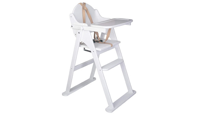 Safetots Deluxe Putaway Folding Wooden Child High Chair