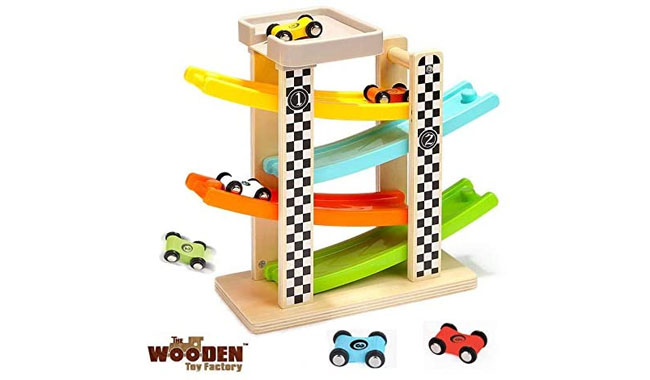 The Wooden Toy Factory Click Clack Racing Track